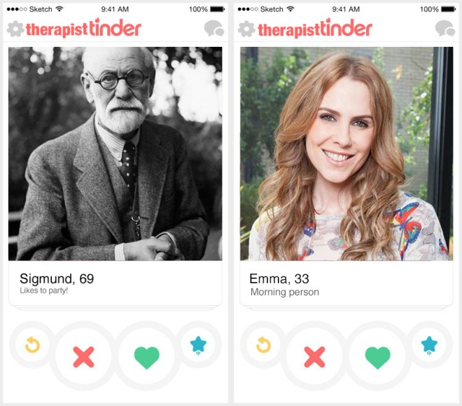 therapist tinder